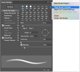 Brush tool preset